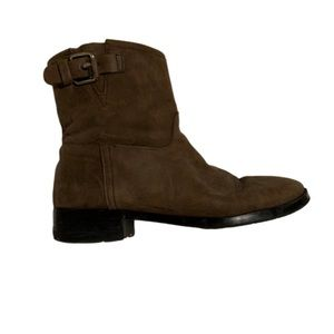 Gap brown suede buckle Moto ankle boots
